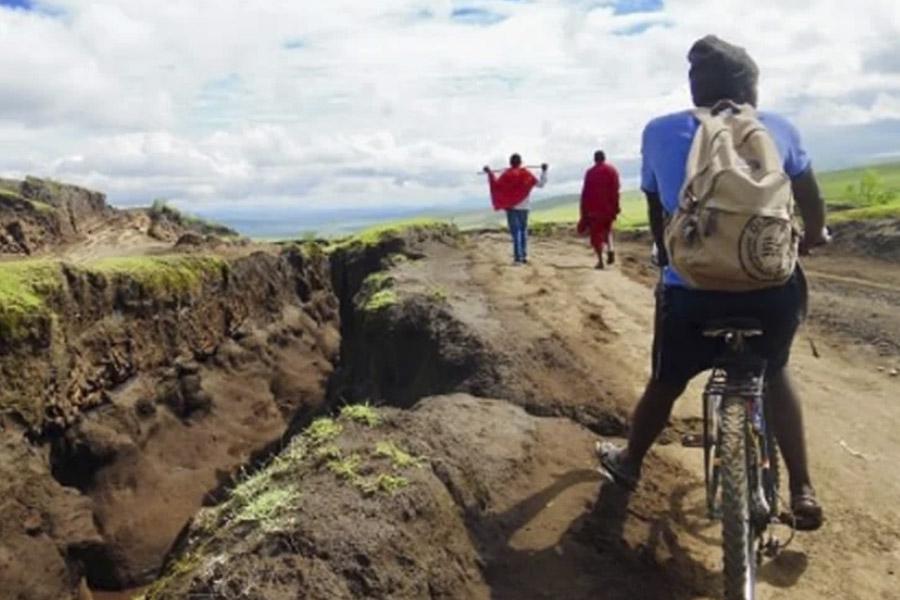 Biking at Mto Wa Mbu Village